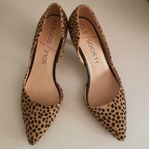 Sole Society leopard kitten heels